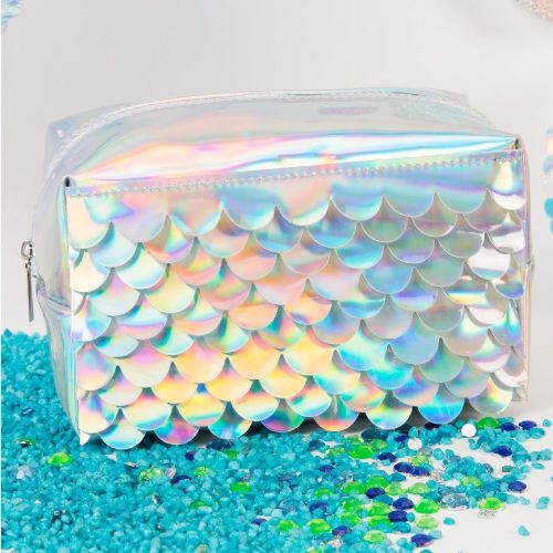 Mermaid Scales Cosmetic Bag Holographic Iridescent Make Up Bag Gift For Her